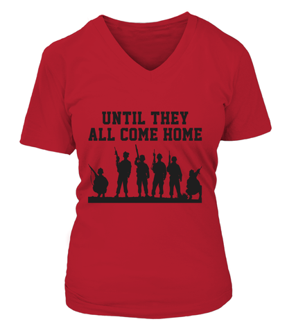 Red Friday They All Come Home (Black) T-shirts