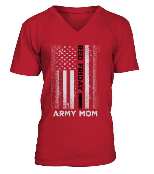 Proud Army Mom Red Friday Flag T-shirts