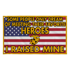 Marine Mom Dad Raised My Hero Flag - MotherProud