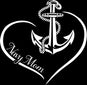 Navy Mom Curve Heart Decal