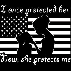 Military Mom Once Protected Daughter Decal