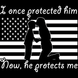 Military Mom Once Protected Decal