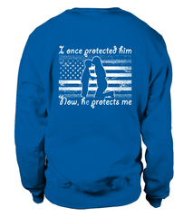 Navy Mom Once Protected Flag Sweater Sweatshirts