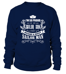 Navy Mom - Became A Great Man T-shirts