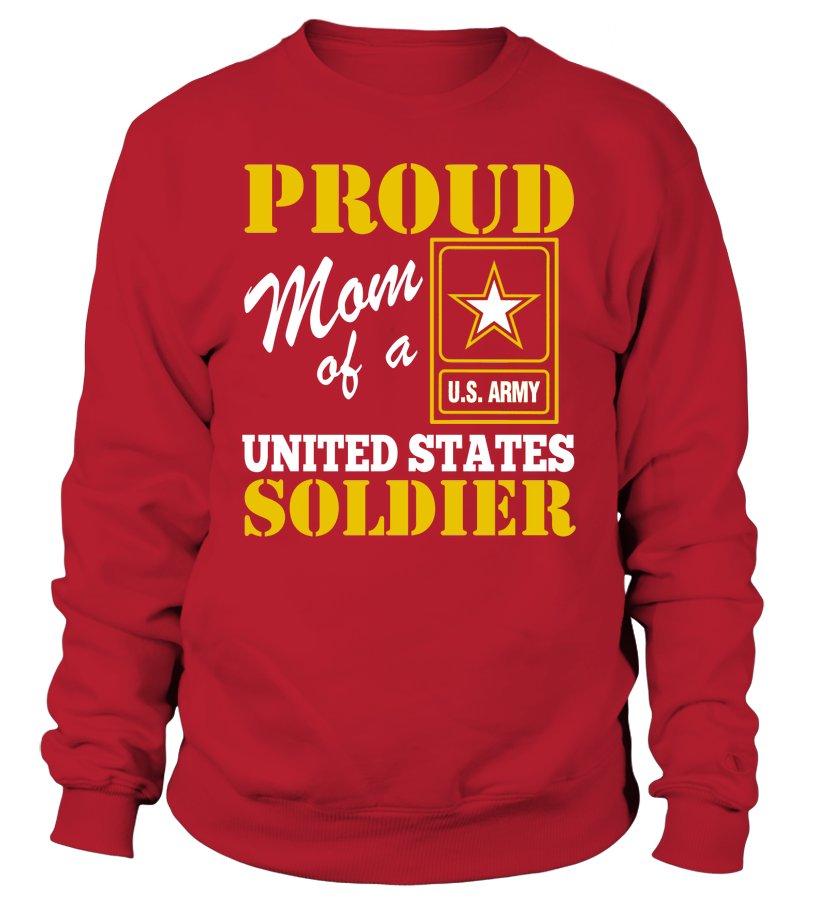Proud Mom Of US Soldier Sweater Unisex