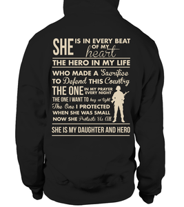 Army Mom - She's My Daughter And Hero T-shirts - MotherProud
