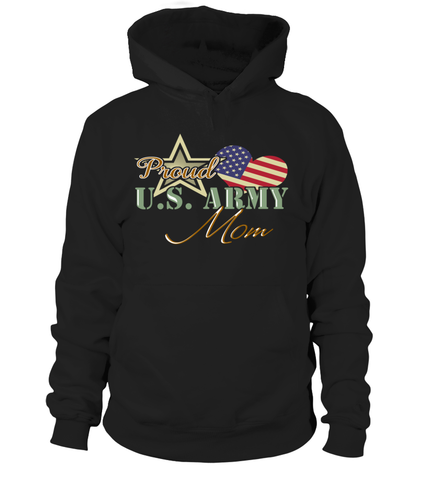 Proud US Army Mom Heart T-shirts