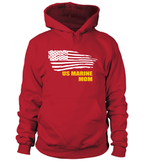 US Marine Mom Flying Flag T-shirts