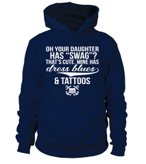 Coast Guard Mom Tattoos Daughter T-shirts