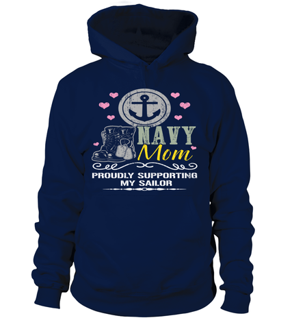 Navy Mom  Proudly Support T-shirts