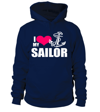 Navy Mom I Love My Sailor T-shirts
