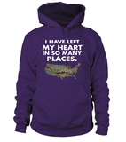 Marine Mom Heart In Many Places T-shirts