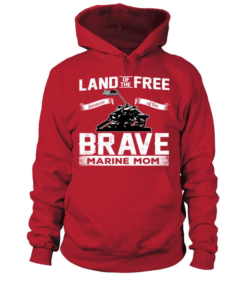Marine Mom Land Of The Brave T-shirts