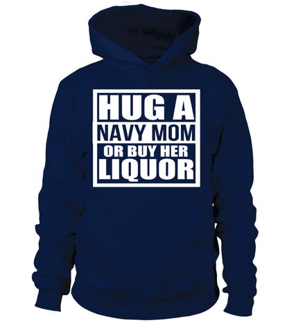 Navy Mom Liquor T-shirts