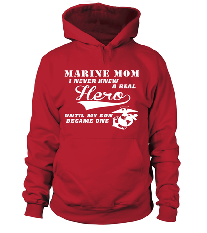 Marine Mom A Real Hero T-shirts