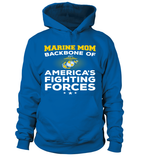 Marine Mom Backbone T-shirts