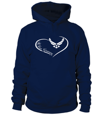 Air Force Granny Curve Heart T-shirts