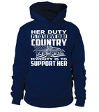 Air Force Mom Her Duty Daughter T-shirts - MotherProud