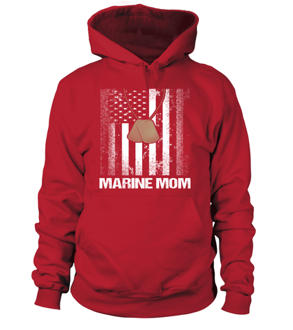 Marine Mom Flag Plus T-shirts