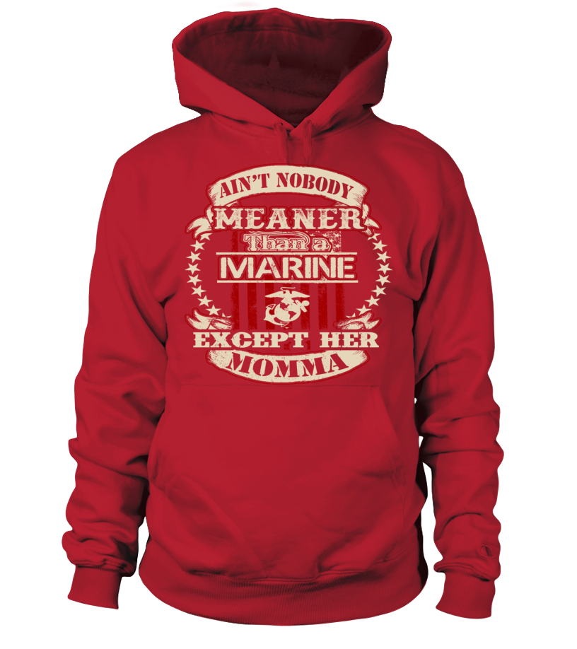 Marine Mom Daughter Meaner T-shirts