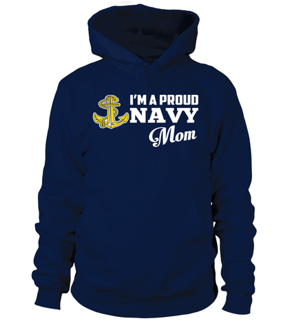 Navy Mom Anchor Symbol T-shirts