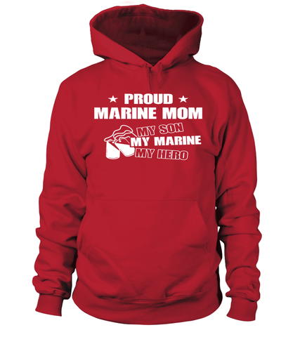 Marine Mom My Son Marine Hero T-shirts