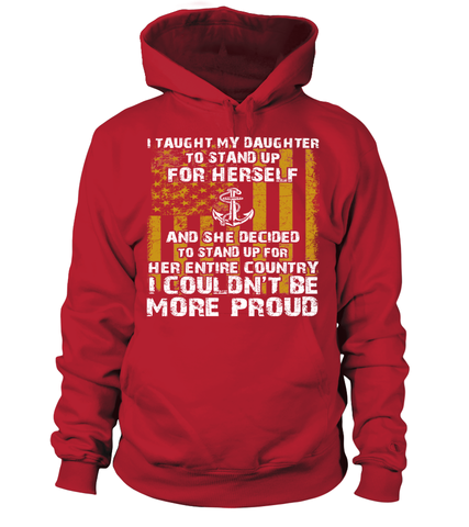 Navy Mom Daughter Couldn't Be More Proud Front T-shirts