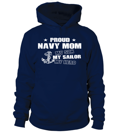 Navy Mom My Son Sailor Hero T-shirts