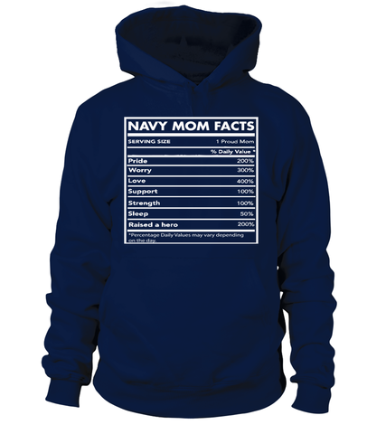 Navy Mom Facts T-shirts