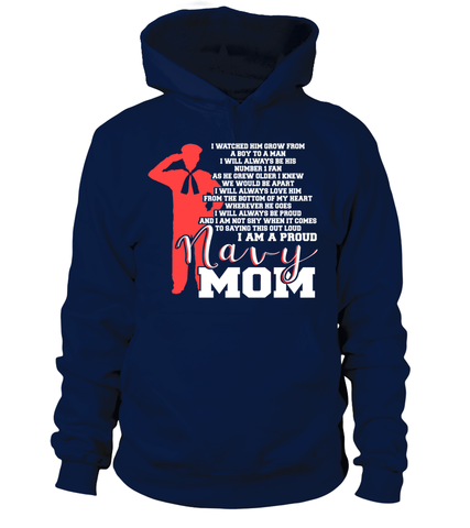 Navy Mom Not Shy T-shirts