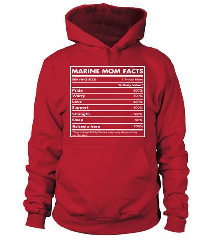 Marine Mom Facts T-shirts