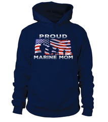 Proud Marine Mom Flag T-shirts