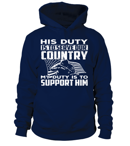 Military Mom His Duty T-shirts