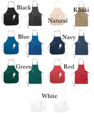 Embroidered Navy Mom Apron Dog Tags Customizable
