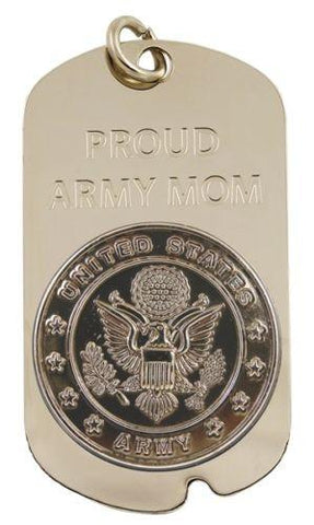 PROUD ARMY MOM Dog Tag Necklace