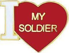 USA Army I Love My Soldier Military Hat Lapel Pin