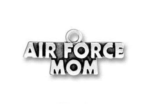 Air Force Mom Military Antiqued Silver 24mm Traditional Charm - MotherProud