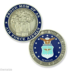 Air Force Mom Of An AIRMAN CHALLENGE COIN - MotherProud