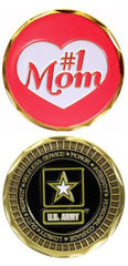 ARMY #1 Mom MILITARY STAR LOGO CHALLENGE COIN - MotherProud