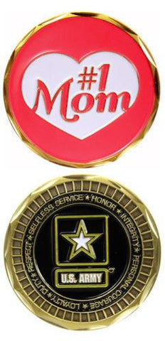 ARMY #1 Mom MILITARY STAR LOGO CHALLENGE COIN
