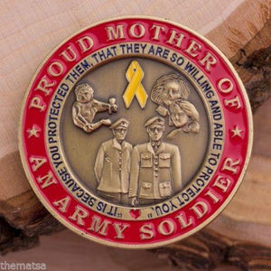 Army Mom Of A Soldier CHALLENGE COIN - MotherProud