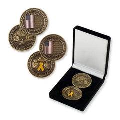 Marine Corps MOM AND DAD  CHALLENGE COIN SET - MotherProud