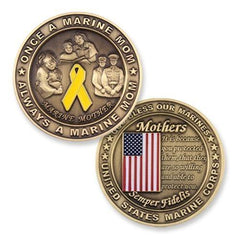 Marine Corps Mom Mother Big Bronze Challenge Coin