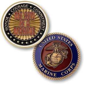 My Son is a Marine Challenge Coin - MotherProud