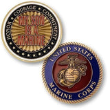 Challenge Coins - My Son Is A Marine Challenge Coin