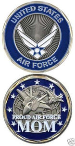 NEW USAF Proud Air Force Mom Challenge Coin - MotherProud