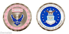 Proud Air Force Mom PINK CHALLENGE COIN - MotherProud