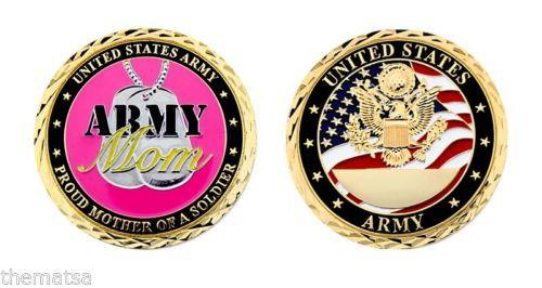 Proud Mother OF A SOLDIER CHALLENGE COIN