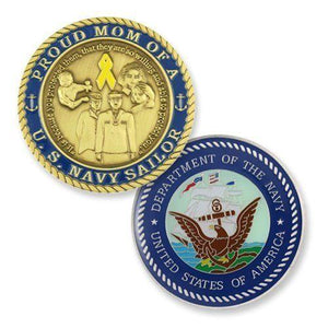 U.S. Navy Mom Challenge Coin - MotherProud