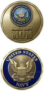 United States Navy Mom Challenge Coin - MotherProud